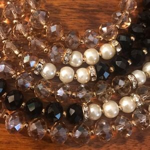 White House Black Market Pearl and Bead Necklace